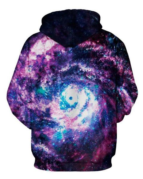 Acheter Vente Chaude Bleu Space Galaxy Hoodies Hommes Femmes Baseball Sweat À Capuche 3d Imprimer Marque Vêtements Cap À Capuche Paisley Nebula