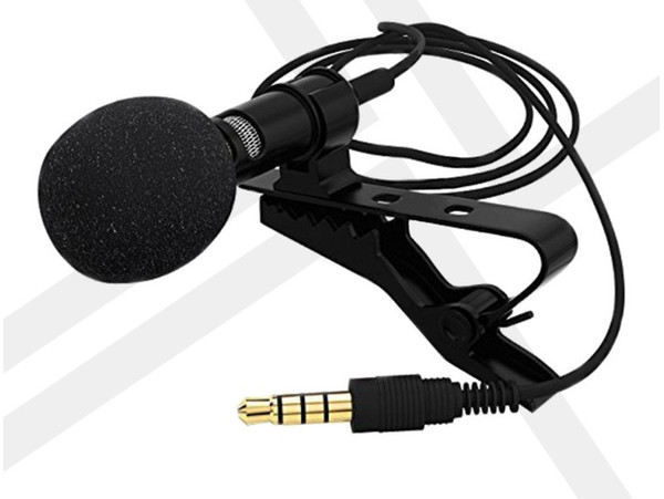 Mini Lavalier Ansteckmikrofon Omnidirektionales Mikrofon mit Clip On System Perfekt zum Aufnehmen von Youtube Interview Podcast LLFA