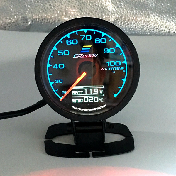 top popular 62mm 2.5 Inch 7 Color in 1 Racing GReddy Multi D A LCD Digital Display Water temp Gauge Water Temperature Sensor Meter 2021
