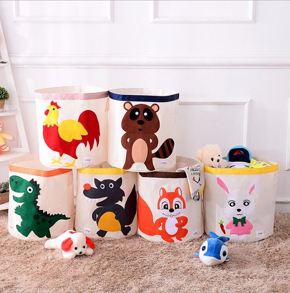 Kids Toys Basket Foldable Kids Toys Storage Baskets Kids Laundry Bag Dirty Clothing Organizer Animal Baby Toys Organizers Bag 46*43cm Z11