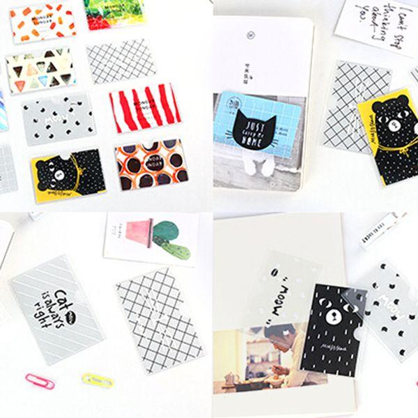 Mujeres PVC de dibujos animados titular de la tarjeta de crédito estudiante lindo tarjetas de identificación billetera pasaporte Business Bancaire titular de la tarjeta Protector