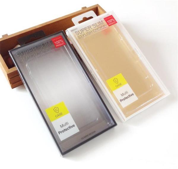 Evrensel plastik boş PVC perakende paket kutusu ambalaj kutuları Telefon Kılıfı telefon için XS MAX XR 8 7 6 6 S artı Samsung S6 S7 S8