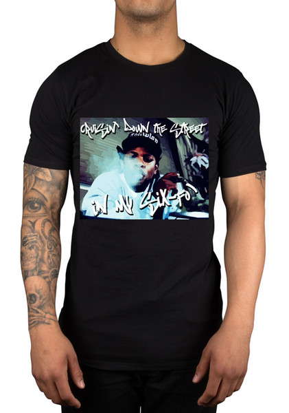 2018 Short Sleeve Cotton T Shirts Man Clothing Eazy E Cruisin Down The Street In My Six-Fo! Graphic T-Shirt Dre Tupac