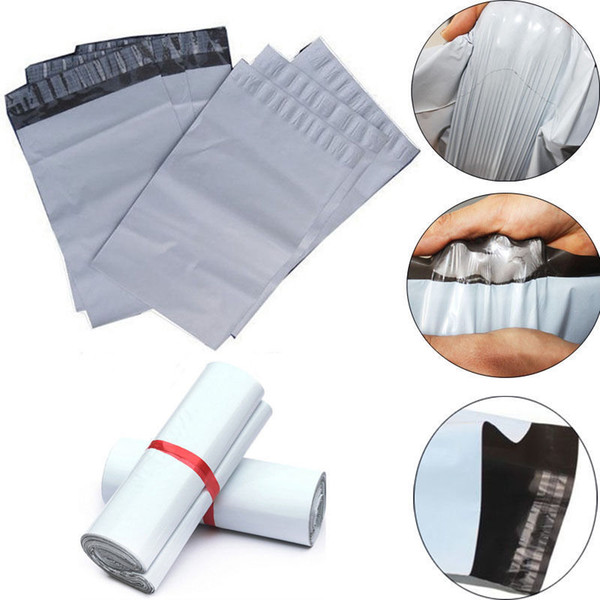 17cm*30cm 2.5 Mil Poly Mailers Self Sealing Shipping Envelopes Plastic Bags 100 Pcs/Pack High Quality Epacket Shipping