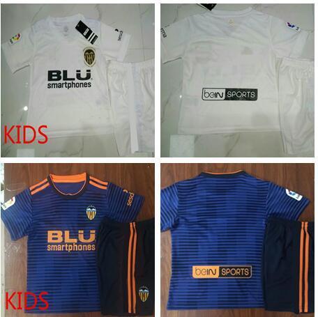 buy online 34389 b7e10 2018 2018 2019 Valencia Cf Kids Soccer Jersey Zaza Parejo G.Guedes C.Soler  Gaya Mina Vietto Rodrigo Custom Blue White Kids Football Shirt From ...