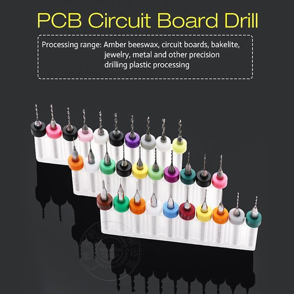 PCB Print Circuit Board Drill Bits PCB Drill Tool Kit Carbide Micro CNC Bits Power Tools Circuit Board