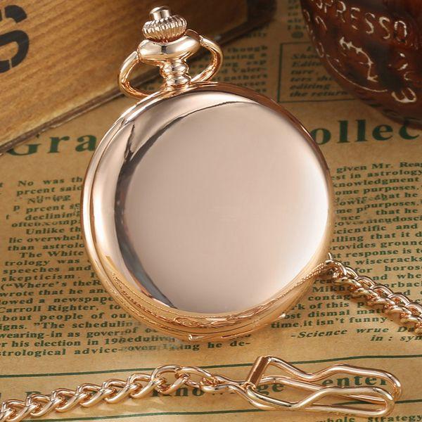 Gold/ Silver/Bronze/black/ Polish Smooth Quartz Pocket Watch Antique FOB Necklace Chain Pendant Vintage Fullmetal Mens Watches