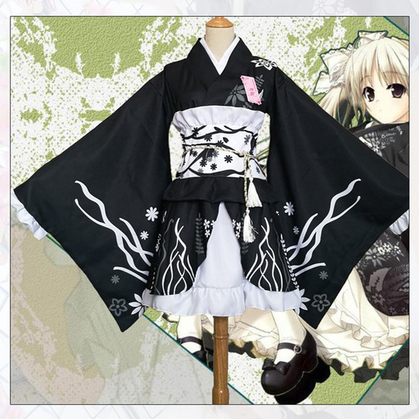 New Design Black Japanese Anime Cosplay Kimono Party Costume For Women And Girls Kimono Party Clothing S-3XL Can Choose From