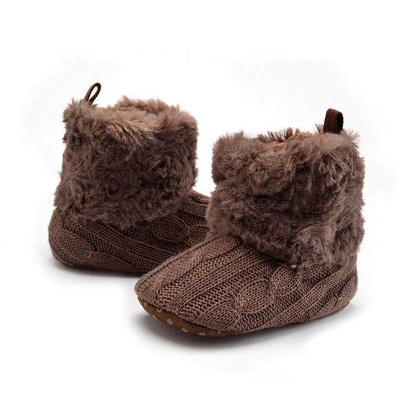 Baby Shoes Boys First Walker Newborn Knitted Crochet Booties Soft Soled Moccasins Anti-Slip Kids Footwear Baby Wool Shoes