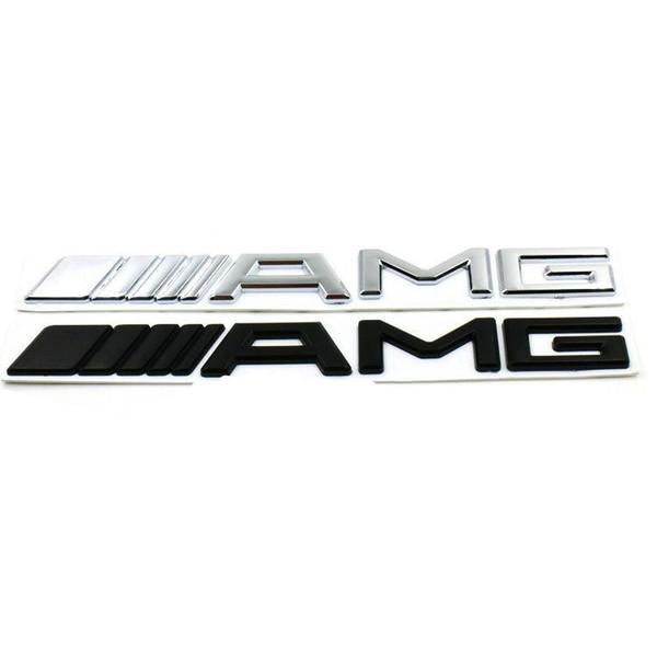 New 3D ABS Car Sticker For Mercedes AMG Logo CLA GLA W212 W211 W210 W202 Silver Black Emblem Badge For AMG Sticker Car Trunk Stickers