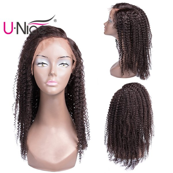 UNice Hair Human Hair Lace Front Wigs For Women Virgin Brazilian Afro Kinky Curly Wig Pre Plucked Bleached Knots Wholesale Cheap Bulk