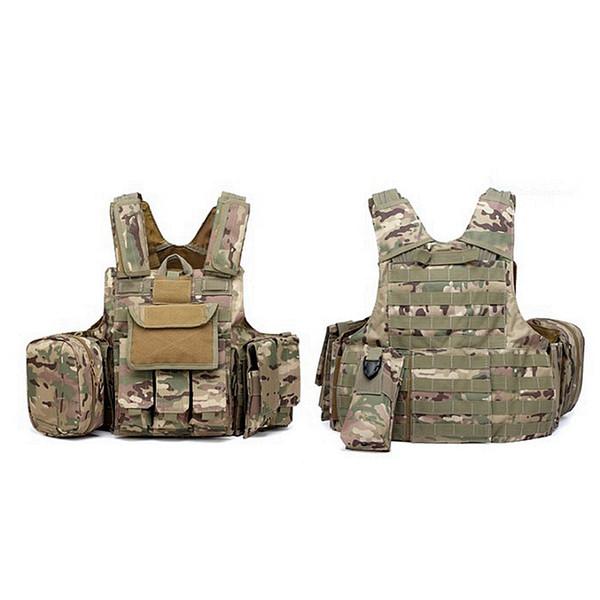 Outdoor Multicam CP ACU Tactical Vest Strike Battle Combat Molle Hunting Assault Plate Carrier Vest Lightweight