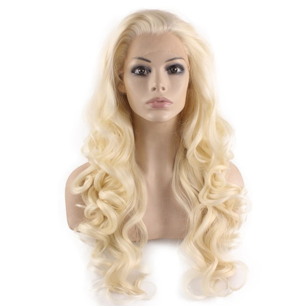 Full lace virgin long wig aaaaaa human hair with baby hair 100% unprocessed remy 613# body wave high quality for women
