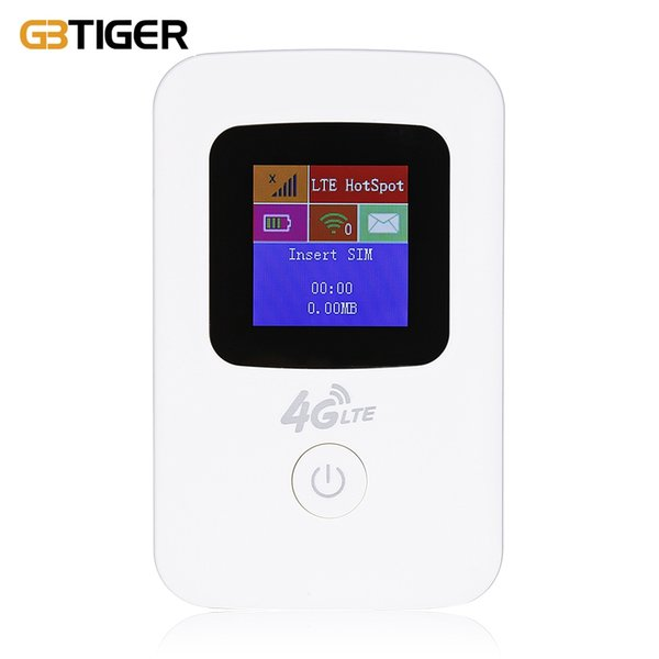 GBTIGER K11 Portable Mobile 4G LTE Wireless Router WiFi Hotspot LCD Display can connect up to 10 devices