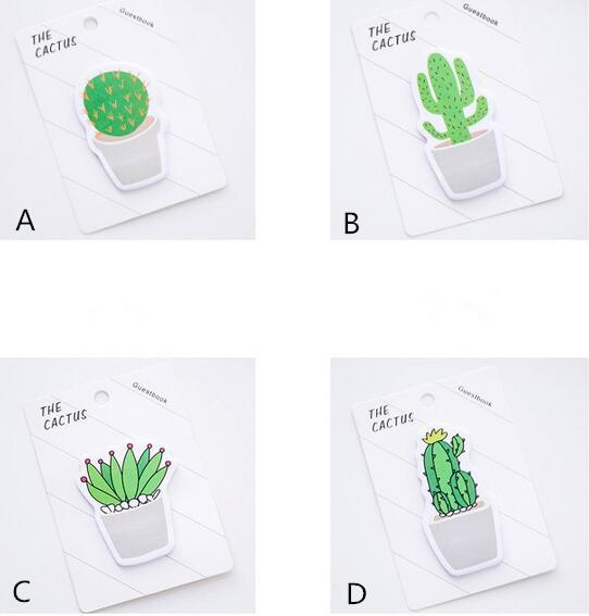 top popular Popular 30 pages pack Fresh Cactus Love Memo Pad Sticky Notes Memo Notebook Stationery Papelaria Escolar School Supplies 2020