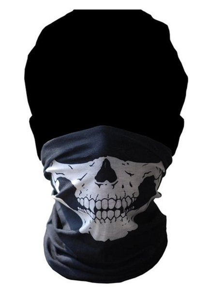 Nueva máscara de calavera fantasma Sombreros de esqueleto Paintball táctico Cosplay Ejército Balaclava Bicicleta de Halloween Máscaras faciales completas