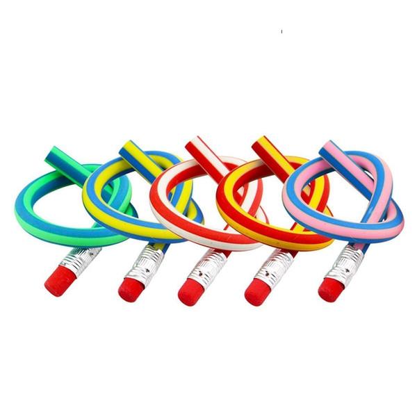 Lápis macio Bendy Flexível Lápis com Borracha Colorido Magia Bendy Flexível Lápis Escrita Presente para Crianças Pacote de 10