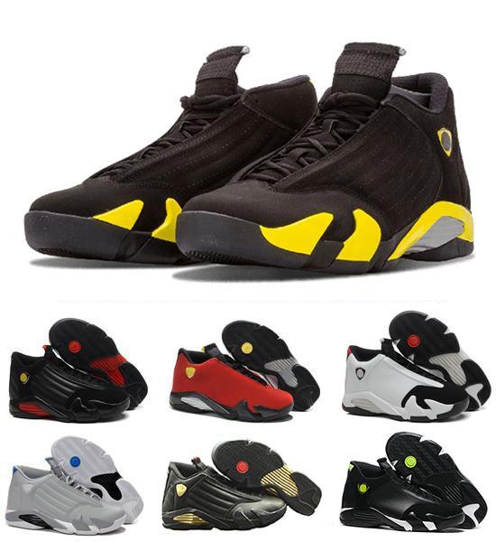 Zapatos de baloncesto al por mayor de la manera zapatilla de deporte 14 último tiro Indiglo arena del desierto oxidado Thunder Black Toe Cool Gray zapatos para hombre entrenador en línea