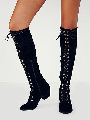 Chamois Italian Warm Flock Riding Boots Shoes Woman New Autumn Winter Overknee Thick Heel Belt Type Inside Zipper Wind Tall Boot