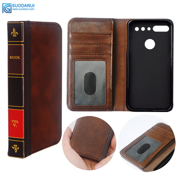 newest 9ddb9 97930 Flip Leather Cell Phone Case For ESSENTIAL PHONE PH 1 Cover Wallet ...
