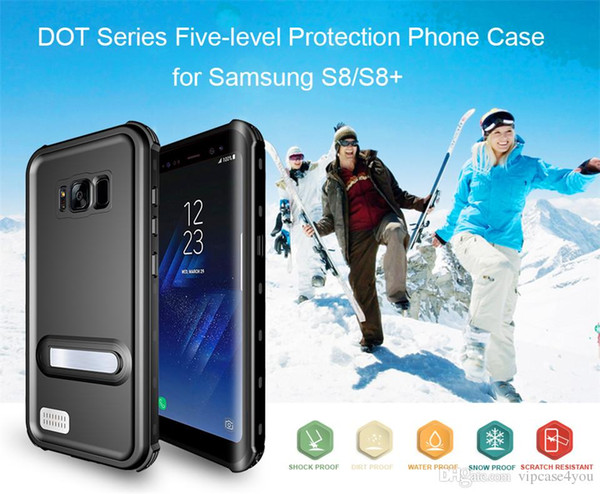 Okme Dot+ IP68 Waterproof Snowproof Dropproof Dirtproof Shockproof cell phone Case for Samsung galaxy s8 s8plus Free DHL Shipping
