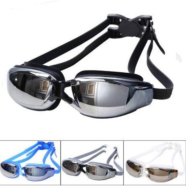 Men Women Swimming Glass Professional Training 100% UV Swim Goggle Waterproof Anti-Fog HD Sight Swimming Glasses