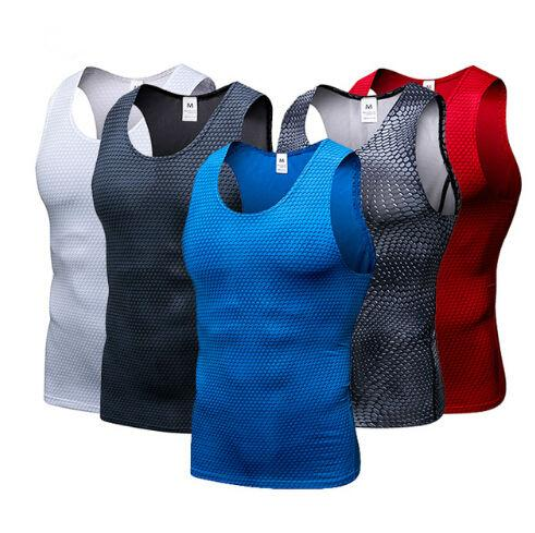 Running vest Gym Vest Tights Tops Quick Dry Sleeveless Sport Shirt Men Gym Clothing For Summer Cool Men's Running Vest