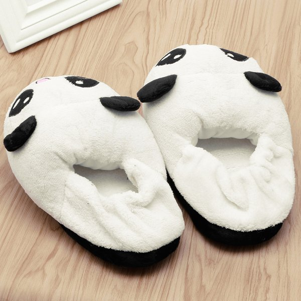 7bce76075 THINKTHENDO Cute Panda Eyes Women Cute Slippers Lovely Cartoon Indoor Home  Soft Shoes