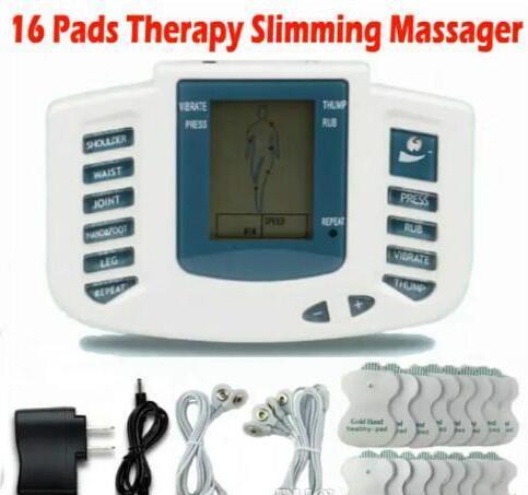 Elektrischer Anreger-voller Körper entspannen sich Muskeltherapie-Massager-Massage-Impuls-Akupunktur-Gesundheitswesen, das Maschine 16 Auflagen abnimmt