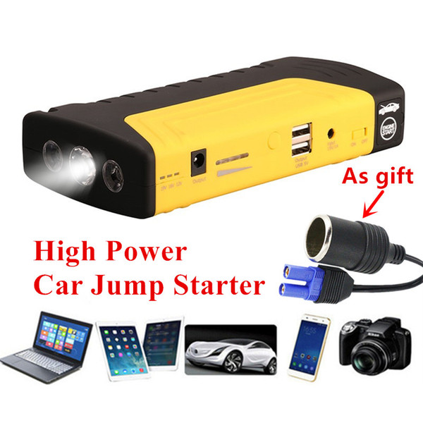Mini Emergency 600A Peak Car Jump Starter Power Bank Portable 12V Starting Device Car Charger For Battery Buster LED