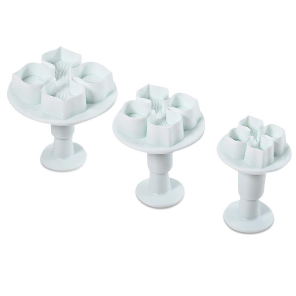 3pcs Plastic DIY Hydrangea Flower Fondant Cake Mould Plunger Cutter Tool for Kitchen Baking Cake Decorating SugarCraft Plunger Cutter NB