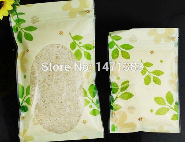 Printing logo 10*15cm Color printed zipper food bags with window,custom logo for plastic tea packaging bags