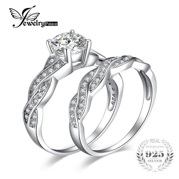 Jewelrypalace infinito 1.5ct cúbicos de zircônia anel de noivado promessa de casamento anéis de noivado 100 925 sterling silver y18102610
