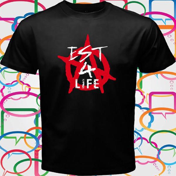Machine Gun Kelly Est 4 Life MGK Men's Black Anime T-Shirt Size S M L XL 2XL 3XL Funny free shipping Unisex
