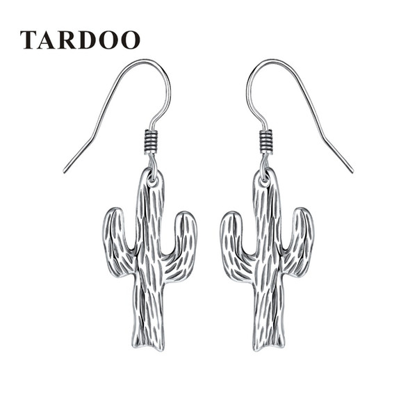 Tardoo Fashion Cactus 925 Sterling Silver Drop Earrings Female Minimalist Cacti Post Earrings Brincos Party Girl Gifts Women