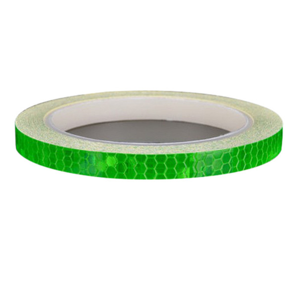 best selling 1CM*800cm Reflective Stickers Motorcycle Bicycle Reflector Bike Cycling Security Wheel Rim Decal Tape Safer Durable Not Fade Bike Light