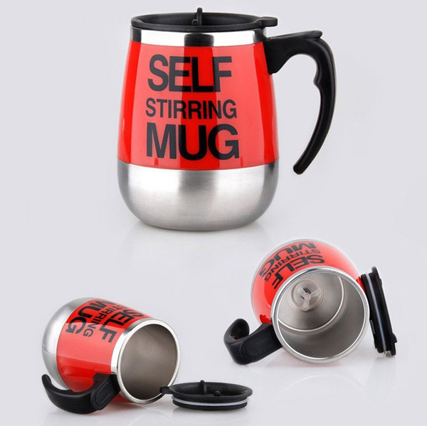 16oz Automatic Electric Self Stirring Coffee Mugs Elegant Cups 304 Stainless Steel Water Bottles With Lids