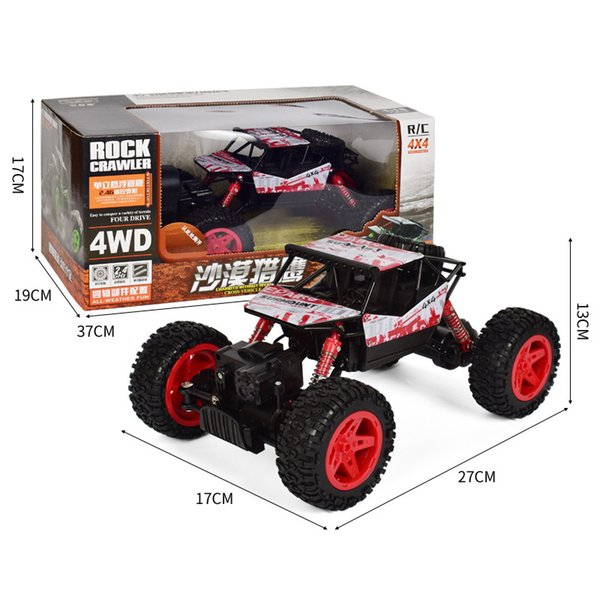 .4G 4WD cross country climbing vehicle, Bigfoot mountain vehicle, mountain climbing remote control car, charging toy car model.
