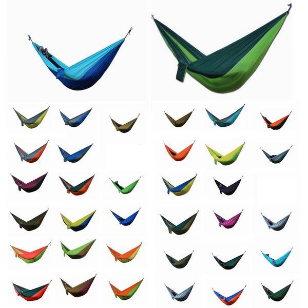 Portable Nylon Fabric Double Person Parachute Hammock Garden Outdoor Camping Safe Hanging Bed Sleep Swing DDA770