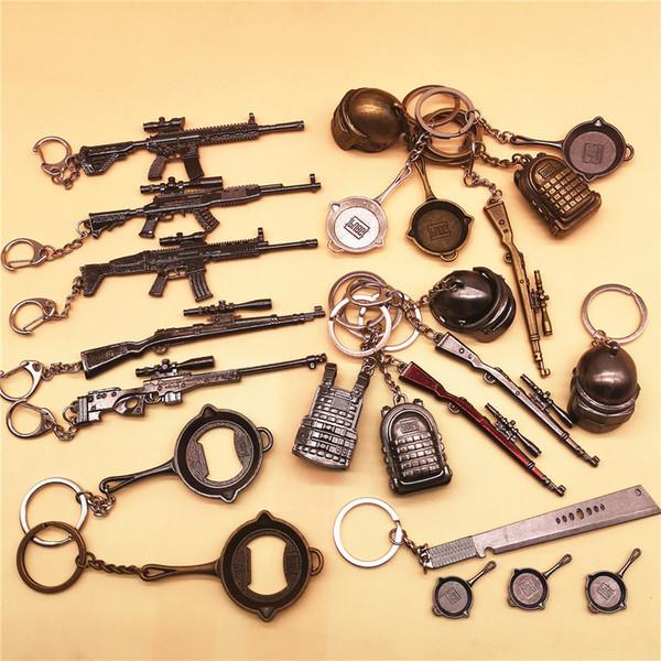 PUBG CS Jeu AWM M24 98K TNT casques pan sac à dos cosplay costumes accessoires alliage armure porte-clés