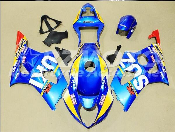 3 Kostenlose Geschenke Neue ABS Injektion Hohe qualität Verkleidung Kits 100% Fit Für SUZUKI GSXR1000 k3 2003 2004 GSXR1000 k3 03 04 Blau r6
