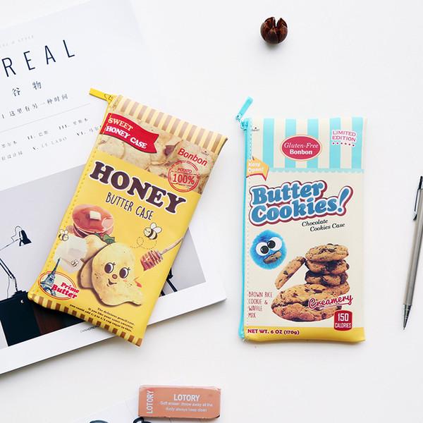 Boys and girls cute cookies potato chips pen bags personality zero wallet fashion.