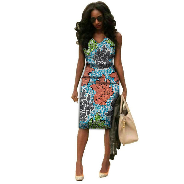 2019 African Clothes Batik Ankara Dresses For Women 2018 Wax Cotton African  Dress Bazin Riche Ladies Clothes Plus Size Paty Dresses From Boniee, ...