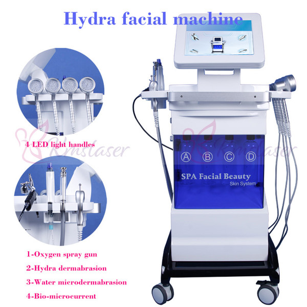 8 in 1 hydra facial water Microdermabrasion Spray Vacuum black head Removal Diamond Skin Peeling skin rejuvenation wrinkle removal machine