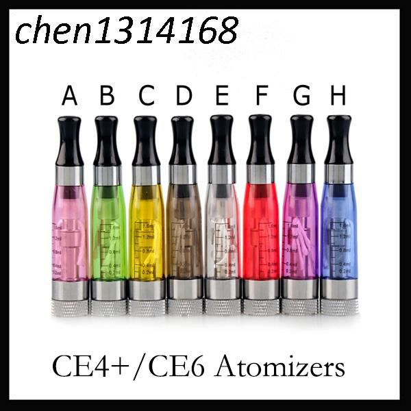 Ego ce4 atomizer ce4 clearomizer 510 thread 1.6ml long wick electronic cigarettes cartomizer ce4 fit for ego kit evod vision