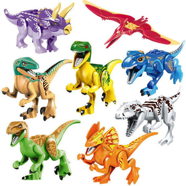 top popular New Fashion Dinosaurs of Block Puzzle Bricks Dinosaurs Figures Building Blocks Baby Education Toys for Children Gift Kids Toy 2019