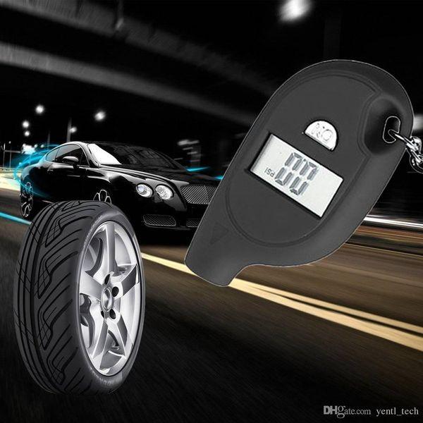 Frete grátis yentl Digital Auto Roda Air Pressure Gauge Medidor de Teste Testador de Pneus Veículo PSI Mini Keychain Digital Portátil LCD 2-150