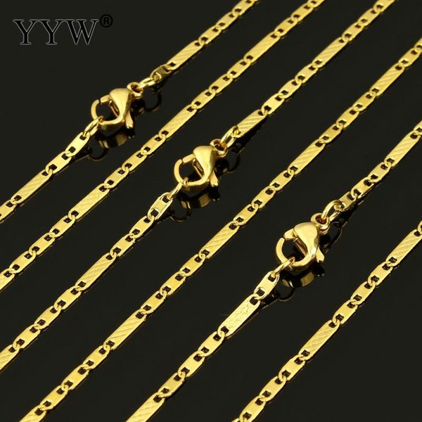 Stainless Steel Chain Necklace Gold Color Charm Necklaces Wholesale Necklace for Men Jewelry Women Statement Jewelry 20Inch