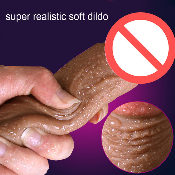 Super Realistic Soft Silicone Huge Dildo Suction Cup Strapon Male Artificial Penis Dick Masturbator Adult Sex Toys For Women