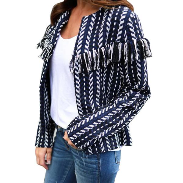 Cardigans Autumn Winter Open Stitch Poncho Knitting R Cardigan Causal Stripe Jacket Coat 2018 Women
